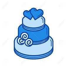 Wedding Cake Vector Line Icon Isolated On White Background Wedding