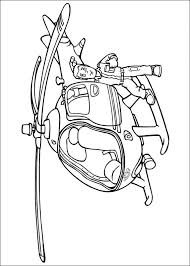 Fireman Sam Helicopter Coloring Page Murderthestout