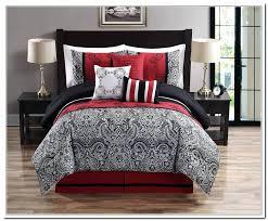 red black and grey comforter set cal king sets red black