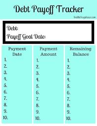 Free Debt Payoff Tracker Printables Debt Payoff Debt Payoff