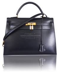 hermes kelly so black 32cm. authentic hermes black box calf kelly bag with strap 32cm gold hw so b