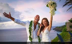Weeding Photo Dwayne Johnson Marries Lauren Hashian See Pics From