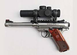 i like optics on a combination target game pistol and my choice is the majestic arms customized bushnell trophy 1x28mm optics package