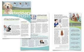Vet Clinic Newsletter Template Word Publisher