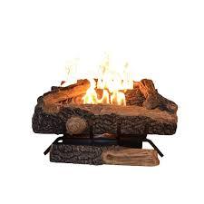 oakwood 24 in vent free propane gas fireplace logs