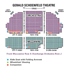 Gerald Schoenfeld Theatre Seating Chart Gerald Schoenfeld Theatre Broadway Come From Away Book
