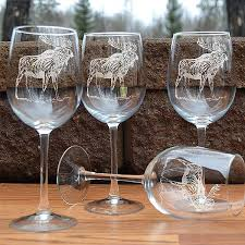 etched wine glass sets cabin place