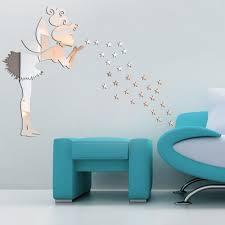 Kids Bedroom Mirror Aliexpresscom Buy Angel Magic Fairy Stars 3d Mirror Wall