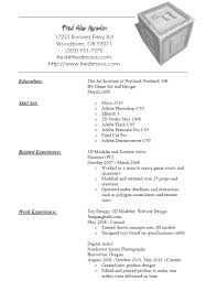 3d Resume Resume For Study