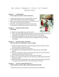 we shall remain trail of tears questions