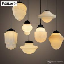 art deco vintage milk glass pendant lamp white glass pendant light northern europe suspension lighting nordic light dinning room hotel hanging lamps