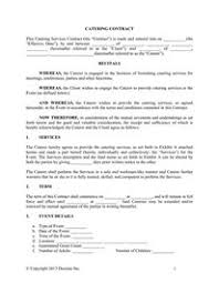 quickbooks documents catering contract wedding catering contract sample