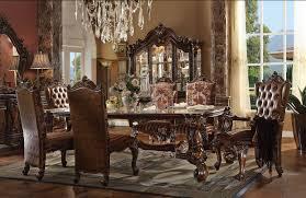 Acme Versailles 7 Piece Rectangular Dining Set In Cherry Oak