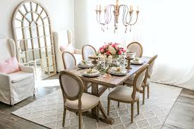 French country dining room furniture Thetastingroomnyc Used The Chairs From My Kitchen In These Photos But Ended Up Ordering More Of These Beautiful White Wingback Chairs To Use Around The Table ill Show My Texas House French Country Dining Room Makeover With Joss Main My Texas House