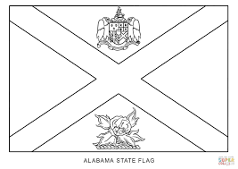 Alabama Coloring Pages Regarding Flag Of Alabama Coloring Page Free ...