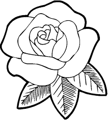 Small Picture Absolutely Smart Coloring Page Of A Rose Printable Roses To Color