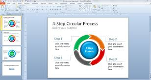 circular diagrams for powerpointfree  step chevron powerpoint template