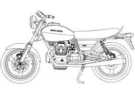 Moto Guzzi V50 Kleurplaat Gratis Kleurplaten Printen