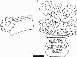 Small Picture happy mothers day cut out card with flowers printable coloring