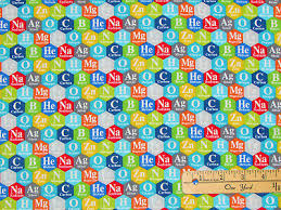 Periodic Chart Image Big Bang Periodic Chart Hexagons Science Fabric By The 1 2 Yard 22500 Ebay