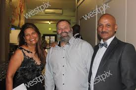 Charlene Peters who organised the ball with   WestPix