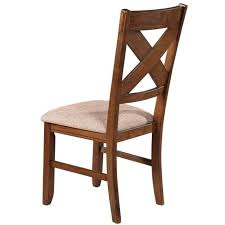 powell furniture kraven dining chair in dark hazelnut set of 2