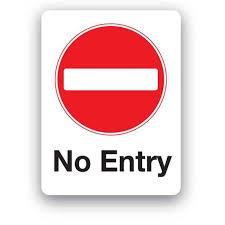 No Entry Sign E86bp Farm Signs