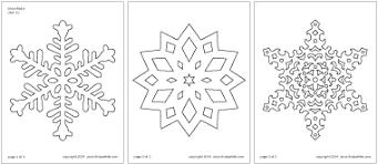 Snowflake Printable Templates Coloring Pages Firstpalette Com