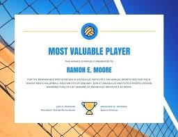 Volleyball Award Certificate Designed By X Flyer My Sports