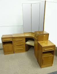 Oak Bedroom Suites Art Deco Light Oak Bedroom Suite Comprising Corner Dressing Table
