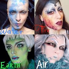 makeup inspired by the 4 elements earth water fire and air