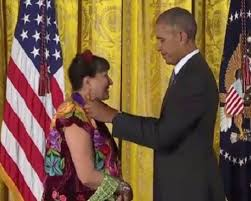 an evening sandra cisneros san miguel times us president barak obama bestows the national medal of arts on san miguel resident author sandra