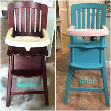 Reece s high chair Ed Bauer high chair makeover with chalk