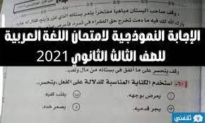اجابات امتحان اللغة العربية 2021 لطلاب الصف الثالث الثانوي من موقع وزارة  التربية التعليم - خبر صح