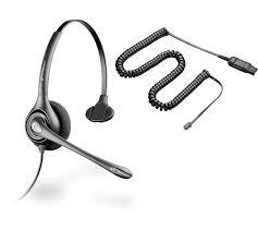 plantronics supra plus hw251n noise canceling a10 cord bundle