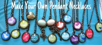 make your own pendant necklaces