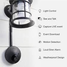 Outdoor Light Fixture Security Camera Toucan Wifi Outdoor Home Security Camera System Powered By