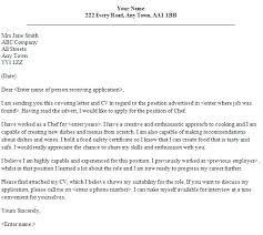 Cover Letter For Chef Resume Cover Letter Demo Chef Cover Letter