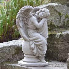 sleeping angel memorial statue garden