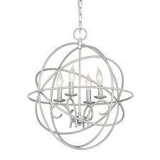 regina brushed nickel crystal chandelier brushed nickel crystal orb 6 light chandelier kichler vivian 1902 in 4 light brushed nickel globe chandelier