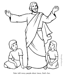 bible coloring sheets free.  Coloring Peter  Bible Page To Print And Color Intended Coloring Sheets Free G