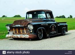 1956 chevrolet custom rat rod pickup truck stock photo royalty