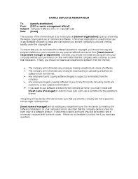 Sample Employee Memorandum Free Download