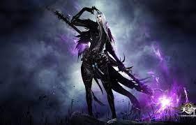 Wallpaper game, sky, long hair, weapon ...