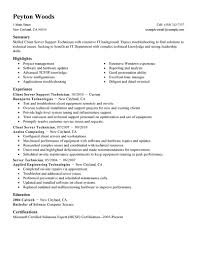 best client server technician resume example  livecareer