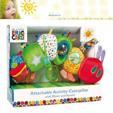 dels about the very hungry caterpillar activity toy caterpillar soft toy pushchair toy