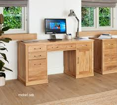 image 1 showing mobel oak. Exellent Mobel Baumhaus Mobel Oak Twin Pedestal Computer Desk  Style Our Home  To Image 1 Showing
