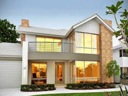 lovely two story home design with white concrete wall part two story house balcony modern
