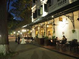 outside of a french restaurant.  Outside Sofitel Legend Metropole Hanoi Outside Terrace French Restaurant Throughout Of A M
