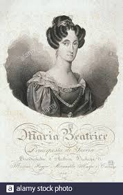 Maria Beatrice Vittoria di Savoia Lit Stock Photo - Alamy